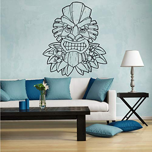 Hawaii Wall Vinyl Decal Stickers Sofá de Fondo Decoración Máscara Totem Extraíble Pegatinas de Pared Decoración Del Hogar 43x61 cm