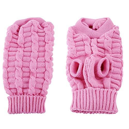 Kostüm 2 Hunde Bein - Hundepullover für den Winter, warm, mit 2 Beinen, Rollkragen-Kostüm