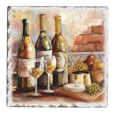 CounterArt Untersetzer, toskanisches Pinot-Design, 4 Stück -