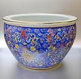 Übertopf Blumentopf Porzellan 31cm Ø Blau
