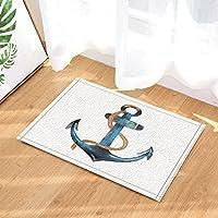 Delightful Awesome Gohebe Marine Retro Anker Decor Cartoon Segeln Schiff Anker In Weiß  Bad Teppiche Rutschhemmend Fußmatte