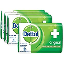 Dettol Original Soap,BUY 3 GET 1 FREE Dettol Original Soap, 125g