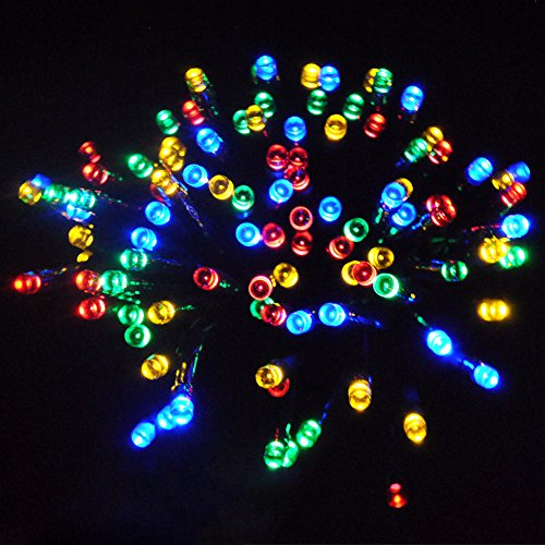 JnDee Safe Voltage 100/200/300/400/500 Bright LEDs 10M/20M/30M/40M/50M String Fairy Lights for Christmas Tree Party Wedding Events (8 Operation Modes) (300 LED 30M, Multi Colours(RGBY))