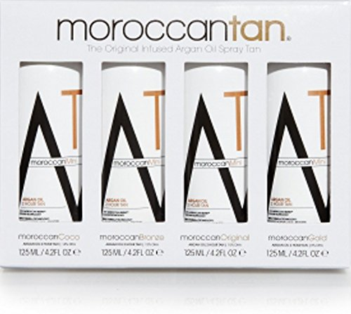 Spray Tanning Lotion (Moroccan Tan Solution Sampler Original Collection 4er Pack je 125 ml - Spray Tanning Lotion)