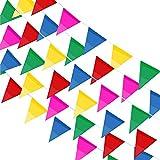 JUSLIN 300 Stück Mehrfarbige Wimpel Banner,114M Nylon Stoff Dekorationen Flaggen Für Festival Parteien und Hinterhof Picnics