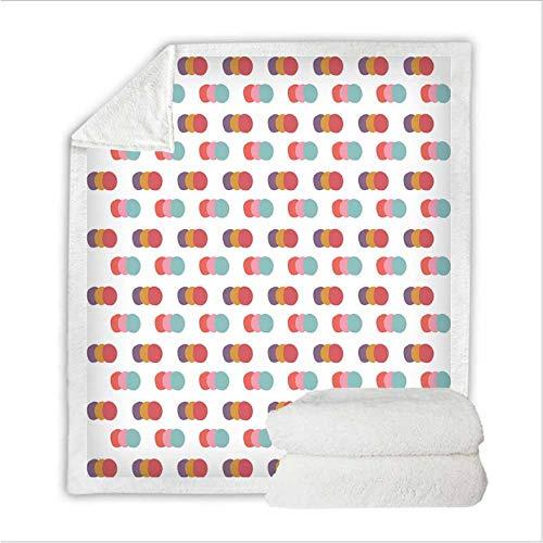 JCJMM Abstrakte Geometrie Bett 3D Quilt Decke Streifen Kreis Muster Vlies Decke Tragbare Gemütliche Werfen Hause Decke Für Couch Bett Reisebett Auskleidungen 150 * 200 cm A -