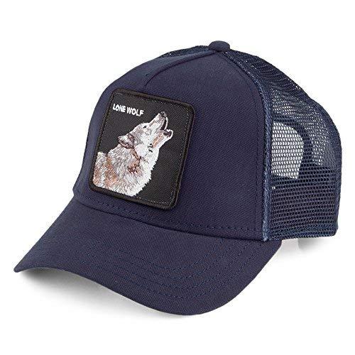 Goorin Bros. Lone Wolf Trucker Cap - Marineblau - Einstellbar