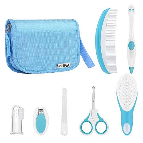 intipal 7-teilig Baby Healthcare Pflege Set–Healthcare-Sets für Säuglinge mit Aufbewahrungstasche (Zahnbürste Erste-hilfe-kit)