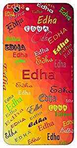 Edha (Popular Girl Name) Name & Sign Printed All over customize & Personalized!! Protective back cover for your Smart Phone : Samsung Galaxy J-5 (2016 Edition )