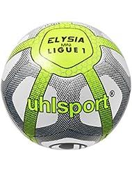 Uhlsport Elysia Mini-Ballon Mixte Enfant, Blanc/Bleu Marine/Jaune Fluo