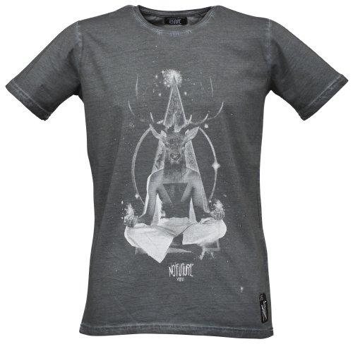NO FUTURE, Herren T-Shirt, Space Stag, Guru, Fashion Tee, anthra, NF/GAS-12-006, GR XL