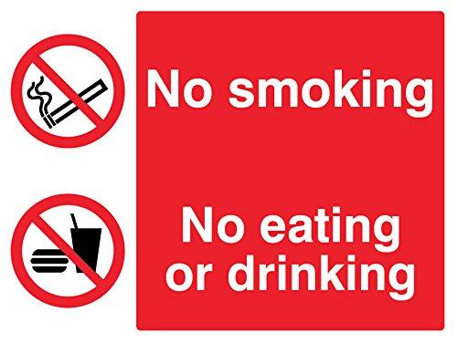 Caledonia Schilder 23012K nicht rauchen, nicht essen, nicht Trinken Zeichen, selbstklebendes Vinyl, 400mm x 300mm (23012)