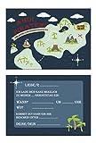 Einladungskarten Pirat Kindergeburtstag 5 Stück, Piratengeburtstag, Einladung Piratenparty
