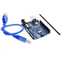 Generic EARSMD Arduino Uno R3 Development Microcontroller Board SMD Version With Cable, Blue