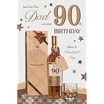 For You Dad 90 90th Happy Birthday Planes Design Good Quality Card With A Lovely Verse