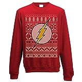 Offizielle Unisex Red DC Comics Das Flash Weihnachtspullover Sweatshirt - Verschiedene Größen (XXL)