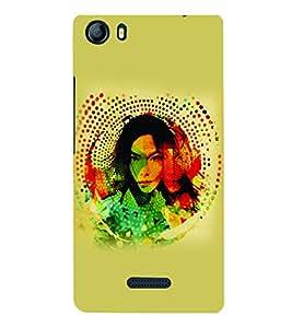PrintVisa Stylish Cool Girl Modern Art 3D Hard Polycarbonate Designer Back Case Cover for Micromax Canvas 5 E481
