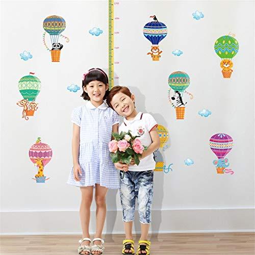 Zxfcczxf Kinderzimmer Cartoon Höhe Messung Wandaufkleber Wasserstoff Ballon Kinderzimmer Dekoration Wachstum Chart Tapete Herrscher (Wachstum Chart Herrscher)