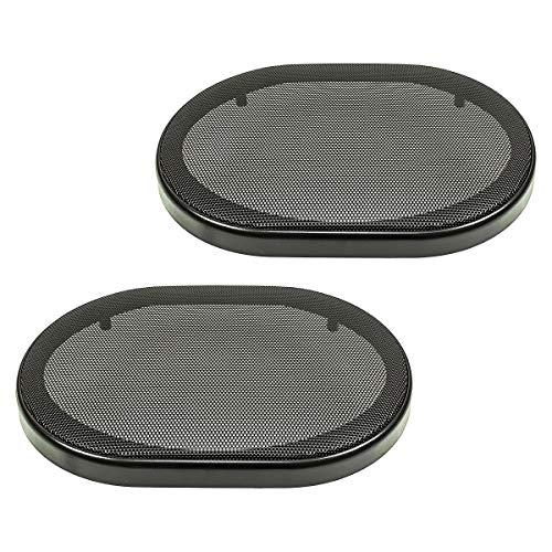 tomzz Audio 2800-004rejilla de altavoz para barbacoa para 6x 9pulgadas altavoces, negro,...