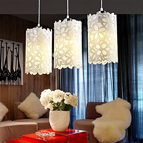 GQLB Dining Chandelier Walkway Aisle Light Simple Bedroom Bedside Restaurant Living Room Bar Single Head Three Pendant Lamp 55 * 77CM,