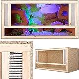 Holzterrarium mit Frontbelüftung 80x50x50cm
