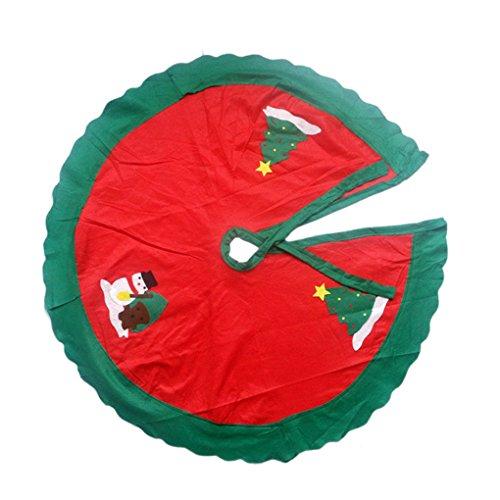 Vkospy Weihnachten Weihnachtsbaum Rock Kreis Schneemann Muster Dekoration Schürze Wrap Voller Rock Wrap
