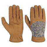 Stetson Lederhandschuhe mit Schurwolle Handschuhe Winterhandschuhe Fingerhandschuhe Herrenhandschuhe (8 1/2 HS - braun-beige)