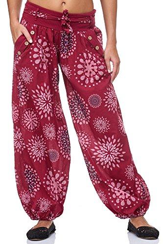 JillyMode Wunderschöne Leichte Haremshose aus Baumwolle in Viele Muster Gr.34-Gr.40 OneSize
