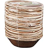 Adaaya Farms Simply Urbane Natural Palm Leaf Round Bowls - 5 Inches - Pack Of 25 - Eco Friendly, Bio Degradable & Compostable - Suitable For Parties And Events.