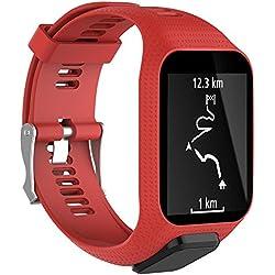 Leegoal Tomtom Correa de Reloj - Correas Tomtom Correas de Repuesto para Correas de Silicona Corredor 2/Corredor 3/Chispa 3/Aventurero/Golfista 2 GPS para Deportes Correr SmartWatch