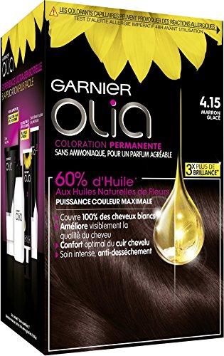 Garnier - Olia - Coloration Permanente à l'Huile Sans Ammoniaque Châtain - 4.15 Marron Glacé
