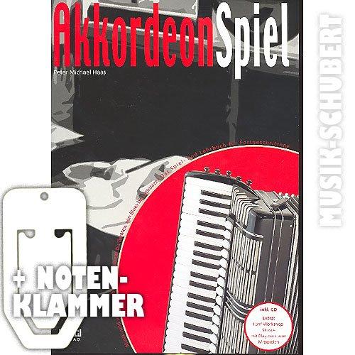 AKKORDEON SPIEL Band 2 mit CD, Notenklammer - Das Spiel- und Lehrbuch für Fortgeschrittene mit Musik rund um den Globus - von Klezmer bis TexMex, von Blues bis Latin Jazz von Peter Michael Haas