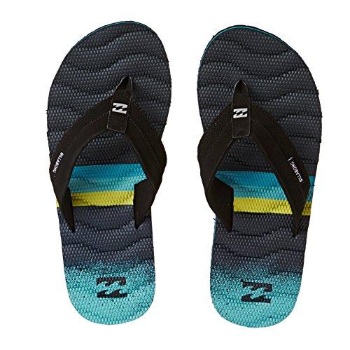 Billabong, Sandali sportivi uomo multicolore Ardesia scuro blu/turchese