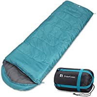 Endor Forest Envelope Sleeping Bag - Single - 3-4 Season - Suitable for Adults and Kids Outdoor Camping - Lightweight, Compact and Water Resistant for a Comfortable Warm Sleep