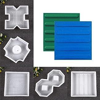 Rosepoem molde de hormigón Caminos de jardín Moldes de plástico Vistoso Ladrillo pavimentación de acera