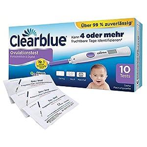 Clearblue Ovulationstest Fortschrittlich & Digital, 10 Tests, 1er Pack (1 x 10 Stück) plus 5 OneStep Schwangerschaftstests 10 miu