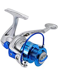 Lixada Carrete de Pesca Spinning 8BB Rodamientos de Bolas Intercambiable Mano Izquierda / derecha Manija Plegable ST4000 5.1: 1