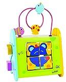 Unbekannt Boikido 80834098 - Multi-Aktivitätentisch aus Holz mit Motorikschleife, Sortierspiel, Labyrinth und Puzzle, 1 Stück