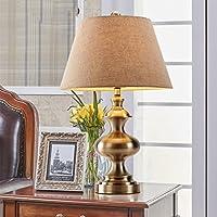European Copper Lampada da tavolo Luxury Vintage American Country lampada da letto comodino Soggiorno lampada di studio
