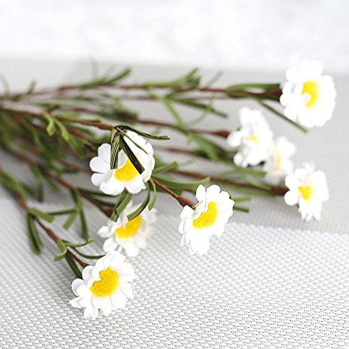 YWLINK KüNstliche Seide GefäLschte Blumen Blatt Kleine Frisch Blumen GäNseblüMchen, Das Blumendekor Wedding Ist 8 BlüTe Geschenk Warm Speichern Cafe Dekoration KüNstliche Pflanze Party-Wohnkultur