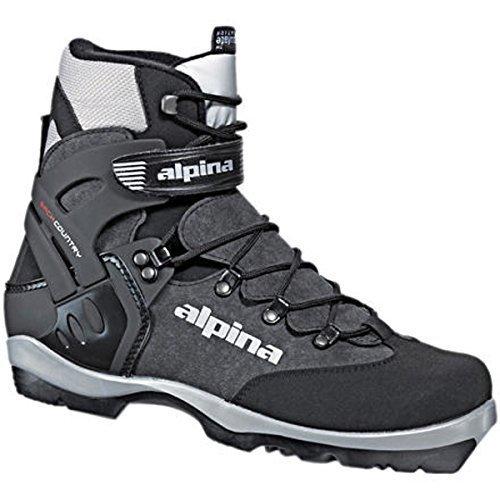 Alpina 1550 BC-Back-Country Nordic Langlauf-Skistiefel, für NNN-BC-Bindung, Schwarz/Silber, von Alpina 38 -