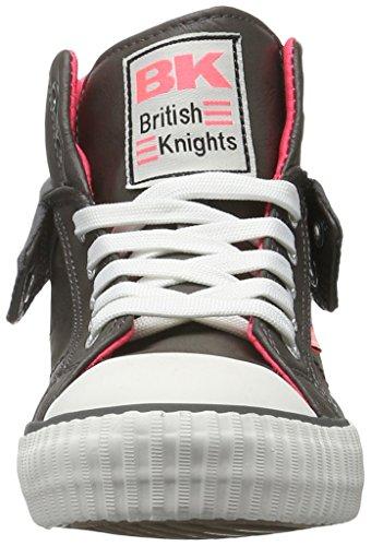 British Knights Roco, Baskets Basses Femme Gris - Grau (Dk Grey/Fuchsia 01)
