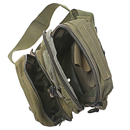 A-szcxtop Kleine EDC Sling pack-outdoor Military Tactical Rucksack Camping Reisen Wandern Trekking Schulter Brust Tasche - Armeegrün