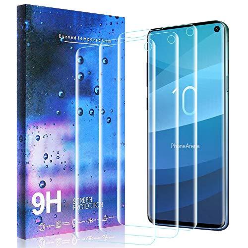 Masstimo Schutzfolie für Samsung Galaxy S10 [3 stück], HD Klar Flexible Folie für Galaxy S10 [Unterstützung für die Erkennung von Fingerabdrücken] Liquid Skin [Blasenfreie] Galaxy Skin