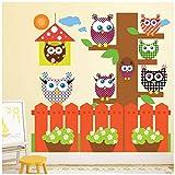 azutura Eule Wandtattoo Set Gartenbaum Wand Sticker Kinderzimmer Kinderzimmer Wohnkultur Erhältlich in 8 Größen X-Groß Digital