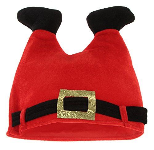La vogue Unisex Komisch Weihnachtsmütze Nikolausmütze Santa Plüsch (Santa Kostüme Komisch)