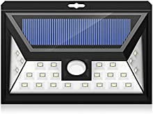 Mpow - Lámpara de pared de 24LED, luz solar, gran ángulo