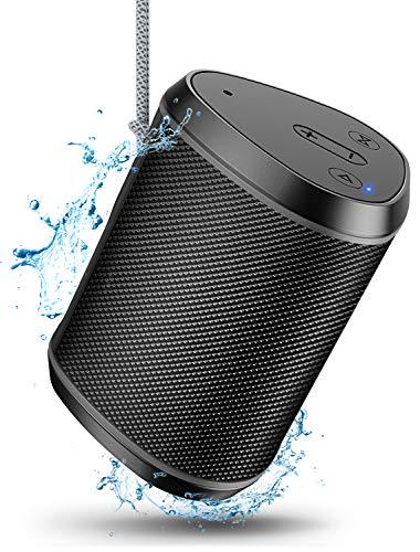 Cocoda Bluetooth Lautsprecher Mini, Bluetooth 5.0 Musikbox TWS mit Tiefen Bass & Stereo Sound, 12 Stunden Spielzeit, IPX6 Wasserdicht Outdoor Kabelloser Lautsprecher für iPhone iPad Huawei Samsung