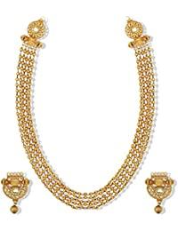 Zaveri Pearls Traditional Antique Look Haram Mala Necklace Set For Women - ZPFK5214