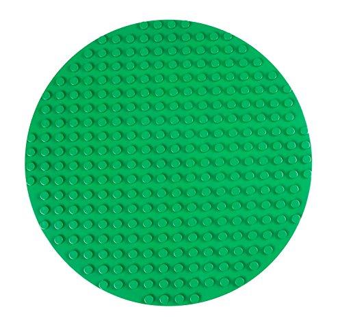 Premium-Bauplatte rund - kompatibel mit großen Bausteinen Aller führenden Marken - nur für Steine mit großen Noppen geeignet - 12,5